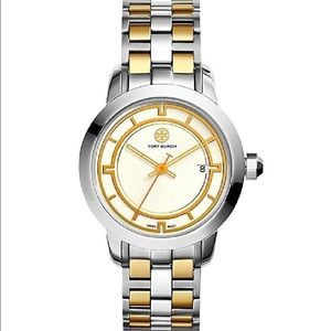 Tory Burch TRB1014 Two Tone Watch Swiss Made